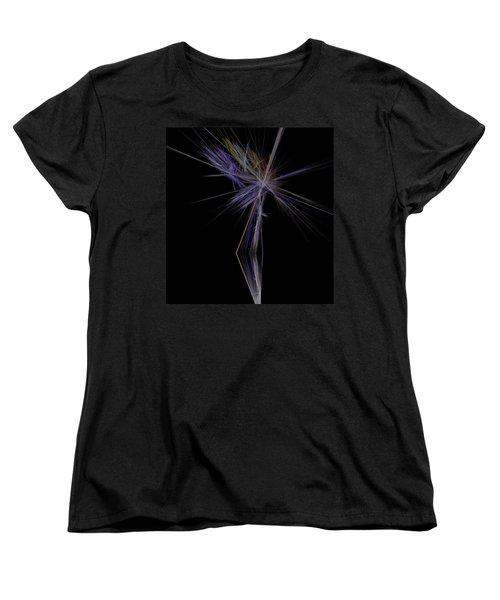 Women's T-Shirt (Standard Cut) featuring the digital art Rainbow Palm by Sara  Raber