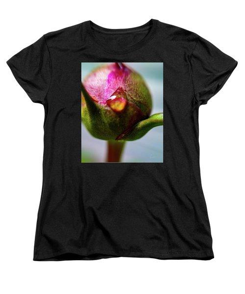 Raindrop On Peonie Women's T-Shirt (Standard Cut)