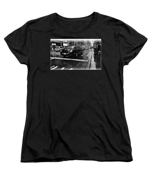 Women's T-Shirt (Standard Cut) featuring the photograph Rainy New York Day by Vannetta Ferguson
