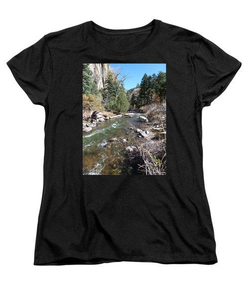 Women's T-Shirt (Standard Cut) featuring the photograph Rapid Stream by Constance DRESCHER
