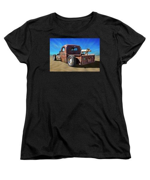 Women's T-Shirt (Standard Cut) featuring the photograph Rat Truck On Beach 2 by Mike McGlothlen