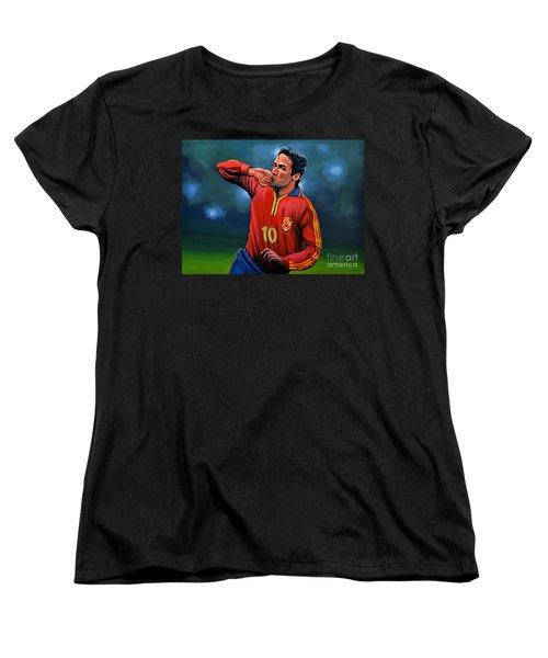 Raul Gonzalez Blanco Women's T-Shirt (Standard Cut) by Paul Meijering