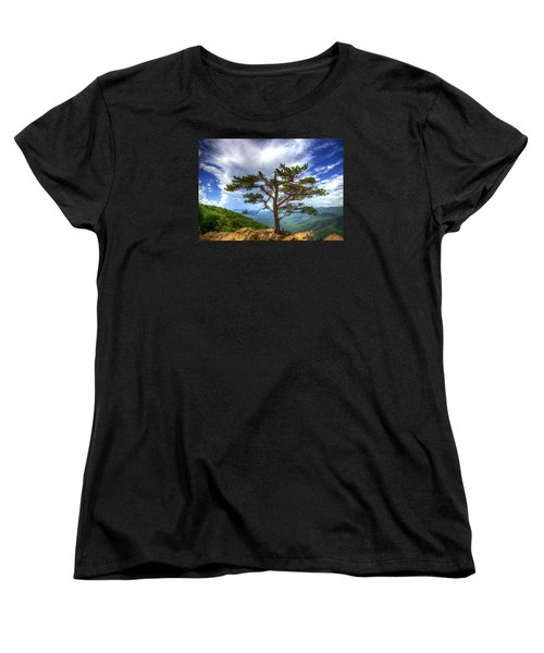 Ravens Roost Tree Women's T-Shirt (Standard Cut) by Greg Reed