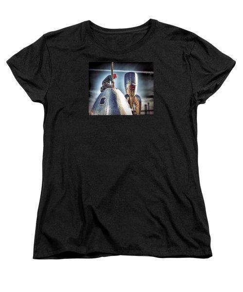 Women's T-Shirt (Standard Cut) featuring the photograph Raygun Gothic Rocketship Safe Landing by Steve Siri