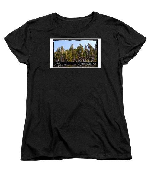Women's T-Shirt (Standard Cut) featuring the photograph Reach Up And Believe by Susan Kinney
