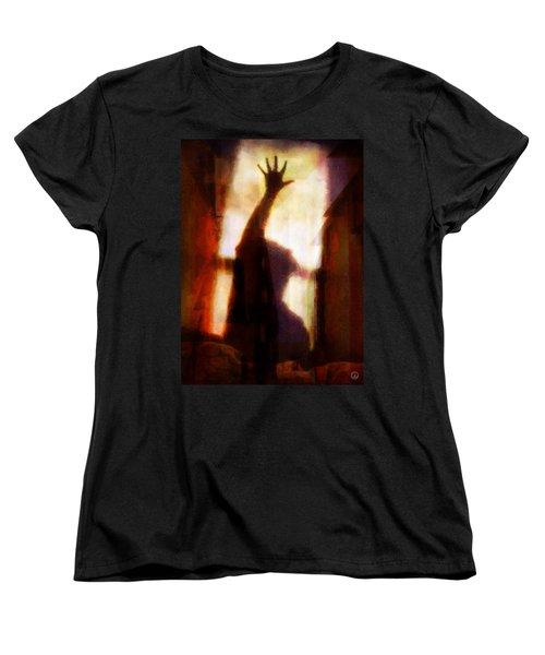Women's T-Shirt (Standard Cut) featuring the digital art Reaching For The Light by Gun Legler