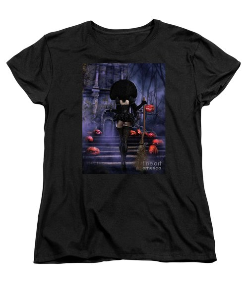Ready Boys Halloween Witch Women's T-Shirt (Standard Cut) by Shanina Conway
