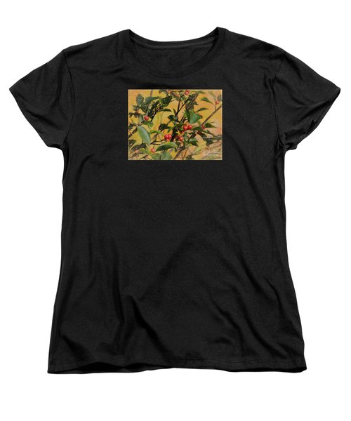 Women's T-Shirt (Standard Cut) featuring the photograph Red Berry by Mim White