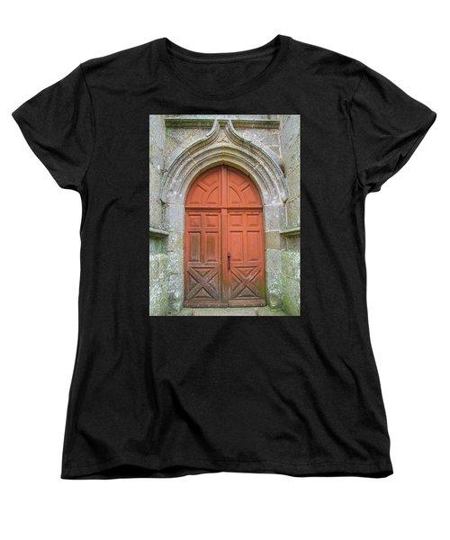 Red Church Door IIi Women's T-Shirt (Standard Cut) by Helen Northcott