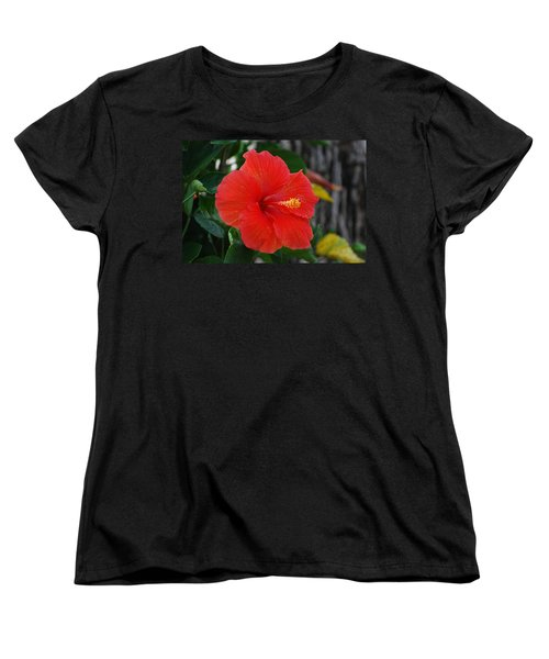 Women's T-Shirt (Standard Cut) featuring the photograph Red Flower by Rob Hans