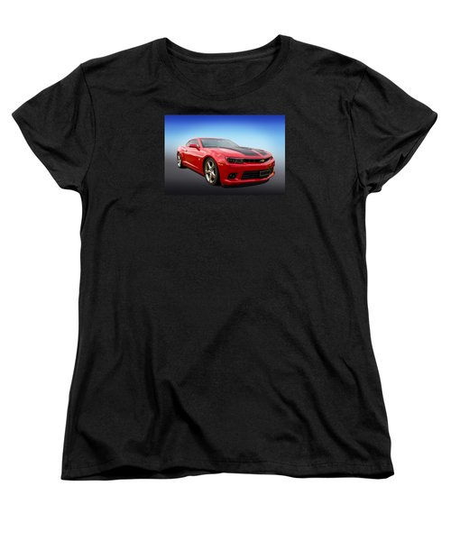 Red Hot Camaro Women's T-Shirt (Standard Cut) by Keith Hawley