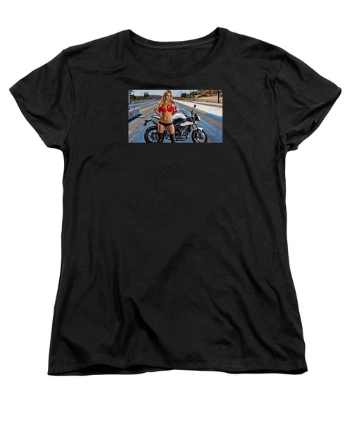 Women's T-Shirt (Standard Cut) featuring the photograph Red Is Not Always For Ducati by Lawrence Christopher