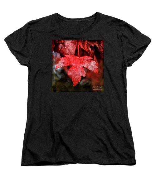 Women's T-Shirt (Standard Cut) featuring the photograph Red Leaf by Robert Bales