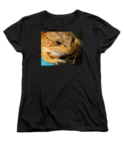 Women's T-Shirt (Standard Cut) featuring the photograph Red Leg Frog by Jean Noren