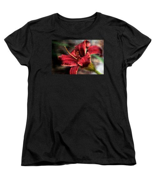 Women's T-Shirt (Standard Cut) featuring the photograph Red Lilly by Michaela Preston