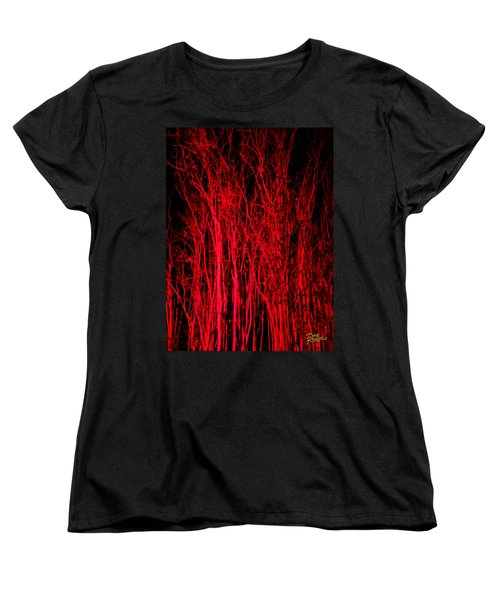 Women's T-Shirt (Standard Cut) featuring the digital art Red Magic by Doug Kreuger