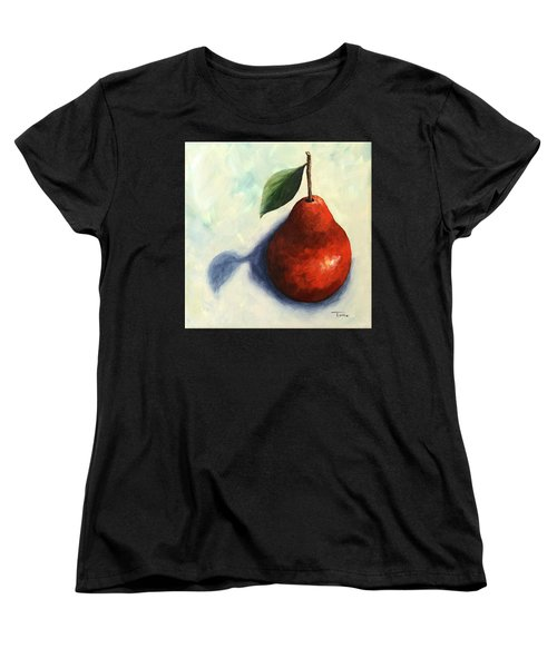 Red Pear In The Spotlight Women's T-Shirt (Standard Cut) by Torrie Smiley