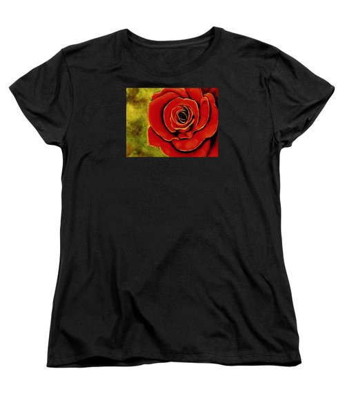 Red Rose Blooms Women's T-Shirt (Standard Cut)