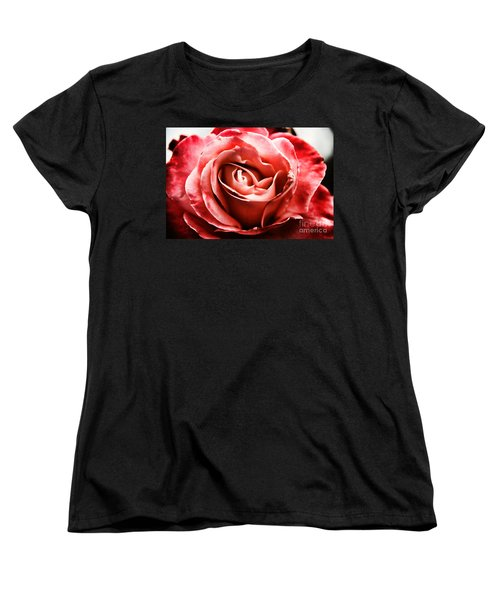 Women's T-Shirt (Standard Cut) featuring the photograph Red Rose  by Mariola Bitner
