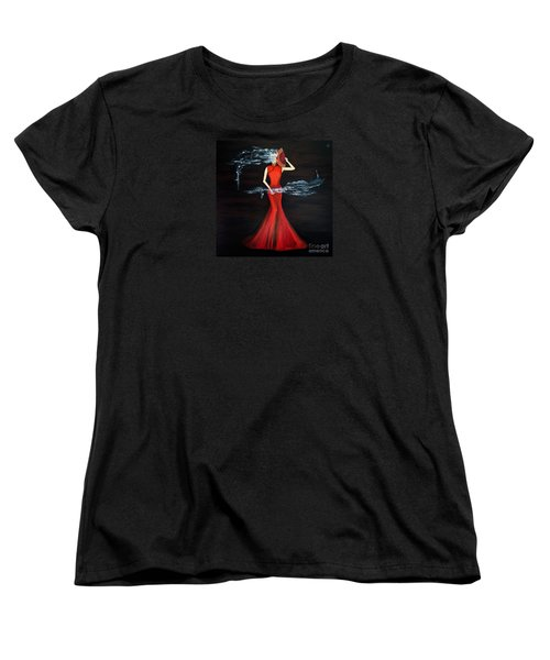 Scented Red Color Women's T-Shirt (Standard Cut) by Fei A