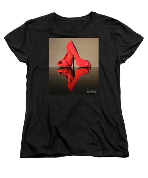 Women's T-Shirt (Standard Cut) featuring the photograph Red Stiletto Shoes by Terri Waters