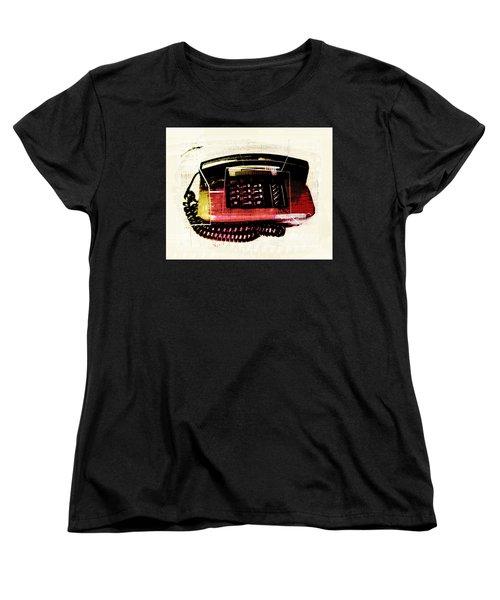 Hot Red Phone Women's T-Shirt (Standard Cut) by Susan Stone