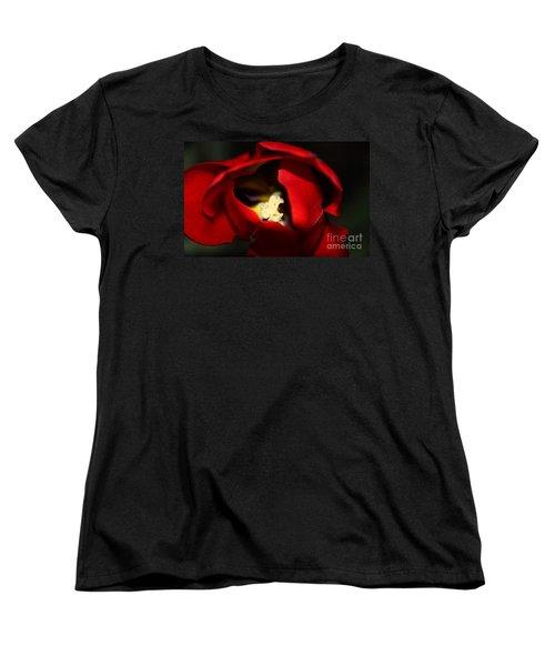 Women's T-Shirt (Standard Cut) featuring the photograph Red Tulip by Jolanta Anna Karolska