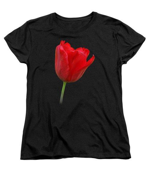 Red Tulip Open Women's T-Shirt (Standard Cut) by Gill Billington