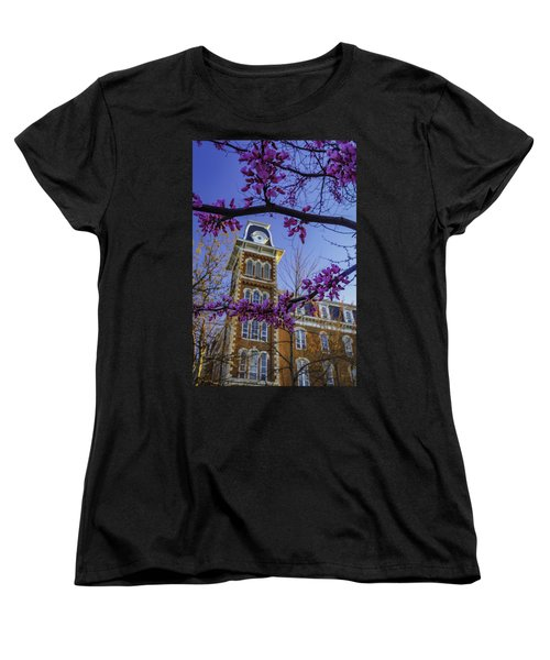 Redbud At Old Main Women's T-Shirt (Standard Cut) by Damon Shaw