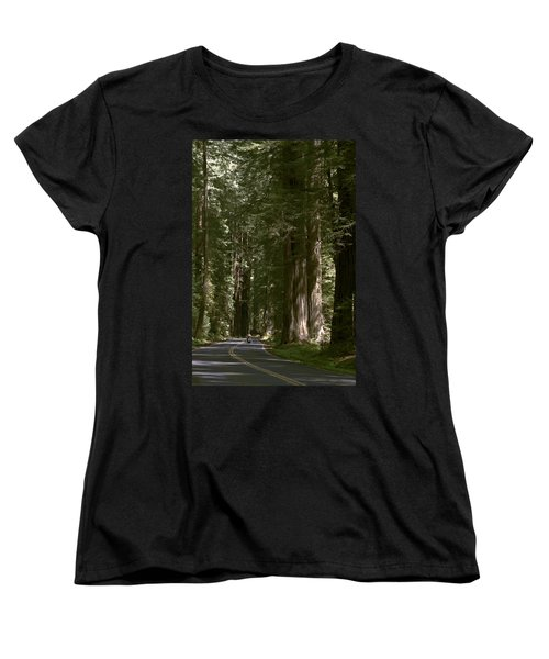Redwood Highway Women's T-Shirt (Standard Cut) by Wes and Dotty Weber
