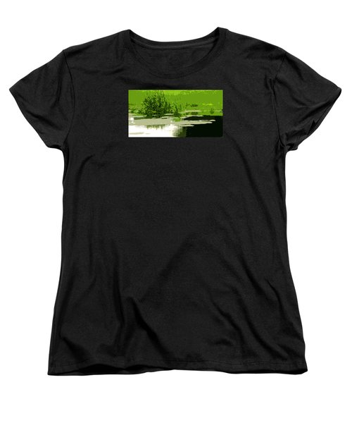 Women's T-Shirt (Standard Cut) featuring the photograph Reeds At The  Pond by Spyder Webb