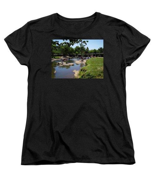 Reedy River Women's T-Shirt (Standard Cut) by Flavia Westerwelle