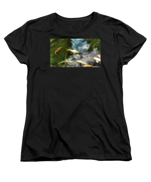 Reflections And Fish  Women's T-Shirt (Standard Cut) by Isabella F Abbie Shores FRSA