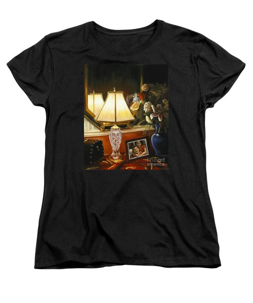 Women's T-Shirt (Standard Cut) featuring the painting Reflections by Marlene Book
