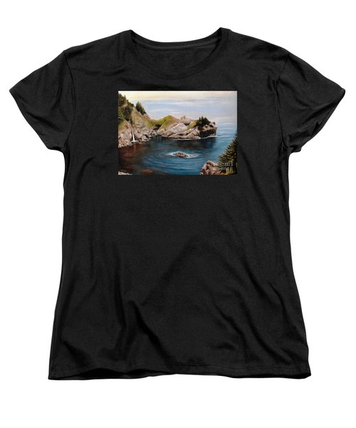 Women's T-Shirt (Standard Cut) featuring the painting Reflections Of The Past by Hazel Holland