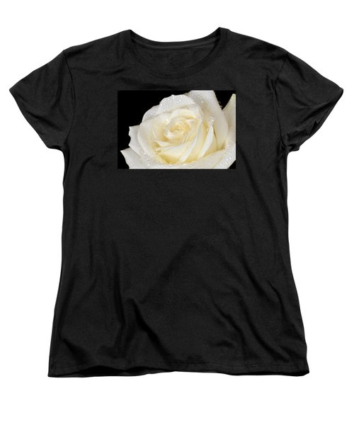 Refreshing Ivory Rose Women's T-Shirt (Standard Cut) by Terence Davis