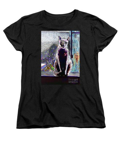 Regal Puss Women's T-Shirt (Standard Cut) by Expressionistart studio Priscilla Batzell