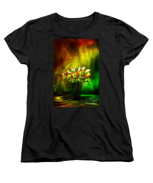 Women's T-Shirt (Standard Cut) featuring the digital art Reggae Tulips by Johnny Hildingsson