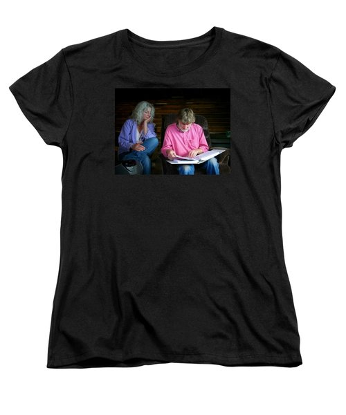 Women's T-Shirt (Standard Cut) featuring the photograph Reminiscing by Lenore Senior