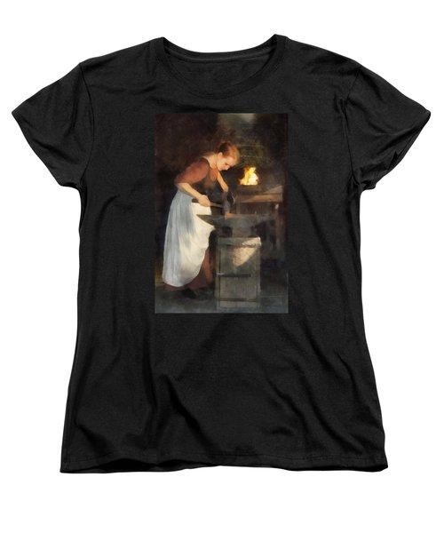 Renaissance Lady Blacksmith Women's T-Shirt (Standard Cut) by Francesa Miller
