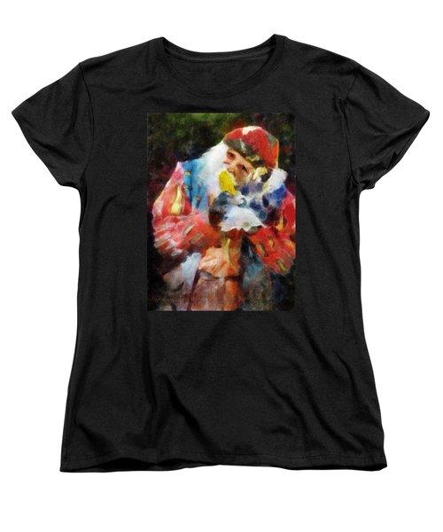 Renaissance Man With Corn On The Cob Women's T-Shirt (Standard Cut) by Francesa Miller