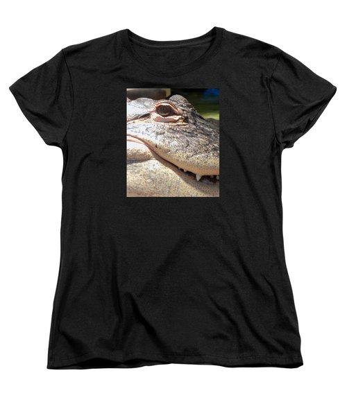 Reptilian Smile Women's T-Shirt (Standard Cut) by KD Johnson