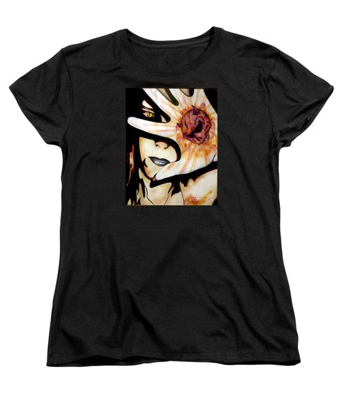 Women's T-Shirt (Standard Cut) featuring the painting Resistance by Tbone Oliver