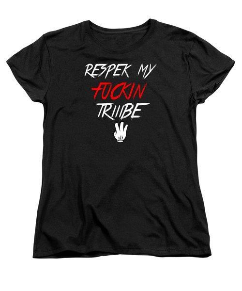 Respek Women's T-Shirt (Standard Cut) by Chief Hachibi