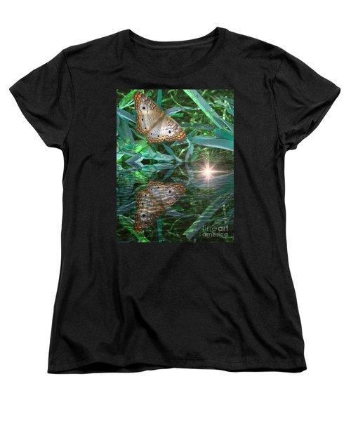 Resting On River's Edge Women's T-Shirt (Standard Cut) by Lilliana Mendez