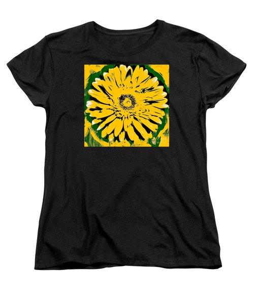 Retro Daisy Women's T-Shirt (Standard Cut) by Marsha Heiken