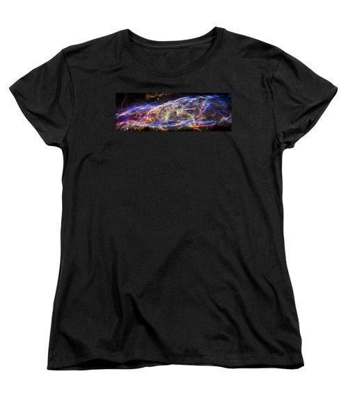 Women's T-Shirt (Standard Cut) featuring the photograph Revisiting The Veil Nebula by Adam Romanowicz