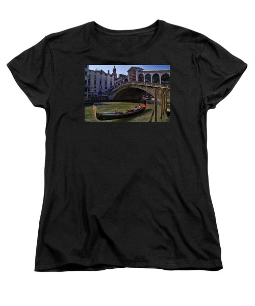 Rialto Bridge In Venice Italy Women's T-Shirt (Standard Cut) by David Smith
