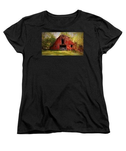 Women's T-Shirt (Standard Cut) featuring the photograph Richton Barn I by Lanita Williams