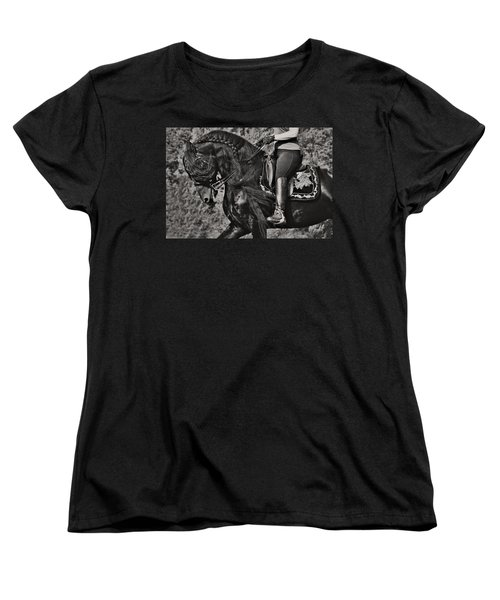 Rider And Steed Dance Women's T-Shirt (Standard Cut) by Wes and Dotty Weber